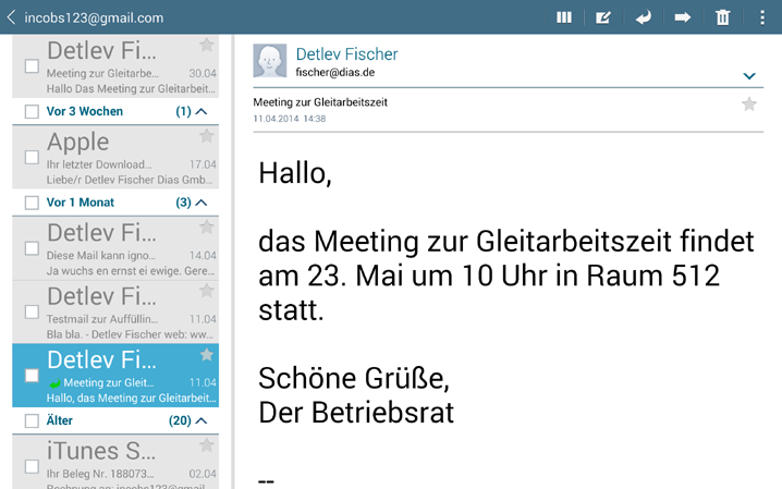 how to move email in samsung mail